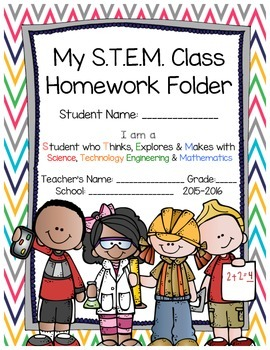 stem school home communication folder cover page engineering