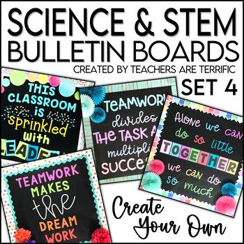 STEM & Science Bulletin Board Templates Set 4
