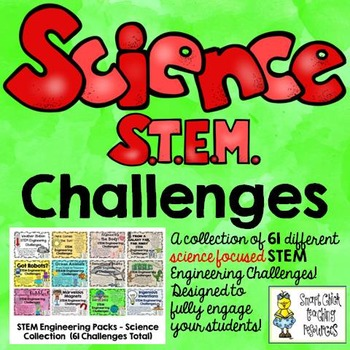 STEM Science Challenge Pack Collection on  CDs ~ 61 Total Challenges