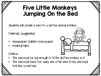 STEM/Science Five Little Monkeys Pack