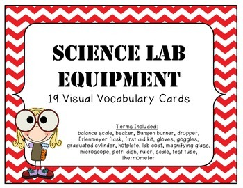 STEM Science Lab Safety and Equipment Visual Vocabulary Posters