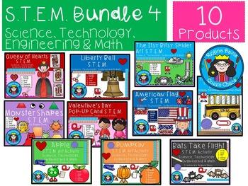STEM Bundled Set 4 Science, Technology, Engineering & Math