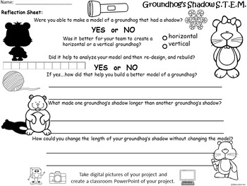 STEM Science, Technology, Engineering & Math: Groundhog Shadows