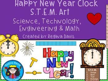 STEM Science, Technology, Engineering & Math: Happy New Year Clock  Art