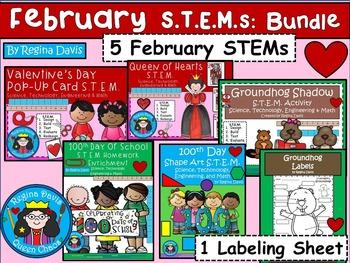 STEM Science, Technology, Engineering & Math February BUNDLE