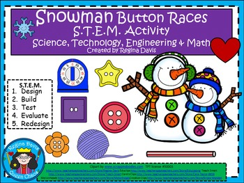 STEM Science, Technology, Engineering & Math: Snowman Button Races