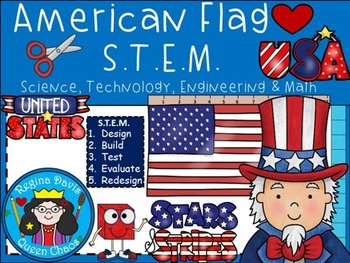 STEM Science, Technology, Engineering & Math: U.S.A. Symbo