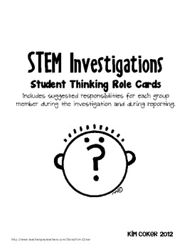 STEM (Science) Thinking Role Cards - Science Labs, STEM Challenges, Group Work
