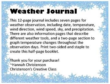 STEM Science Weather Journal