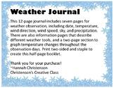 Weather Observation Journal STEM/Science