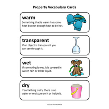 STEM Science Word Wall 40 Vocabulary Cards with Definitions suitable for EYL