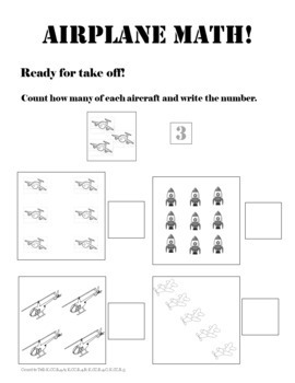 STEM Sheets: Airplane Math