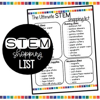 STEM Shopping List