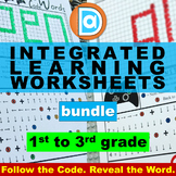 Integrated Learning Worksheets Bundle for First - Third Gr