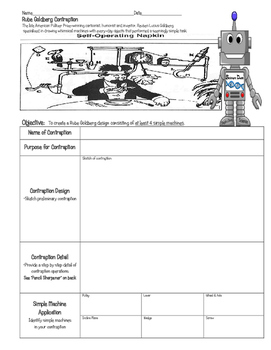 STEM Simple Machine RUBE GOLDBERG Contraption ~ 5th 6th 7th 8th Homeschool