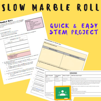 STEM Slow Marble Roll Activity