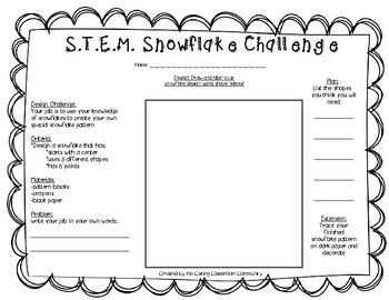 STEM Snowflake Challenge