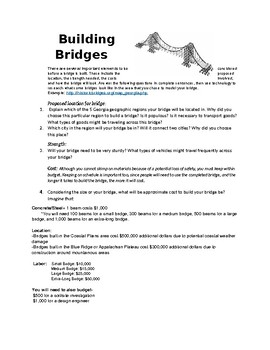 STEM Social Studies Activity- Building Bridges