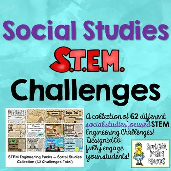 STEM Social Studies Challenge Pack Collection on  CDs ~62 Total Challenges