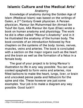 STEM Social Studies - World History - Islamic Anatomy Project