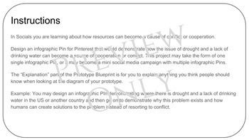 STEM Socials Challenge (Pinterest): Resource Distribution Causes Conflict