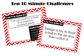 STEM Starters: Ten 10-Minute Challenges to Develop Critical Thinking