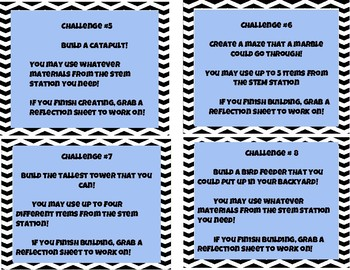 STEM Station Task Cards