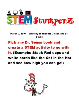 STEM StumperZ - discussion starters, journal prompts, and fillers - March