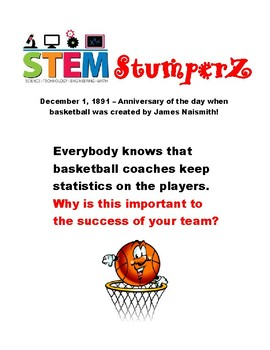 STEM StumperZ - discussion starters, journal prompts, and fillers - December