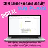 STEM Sub Plans: DIGITAL STEM Careers Research Assignment (