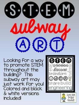 STEM Subway Art ~ Two Versions ~ FREE