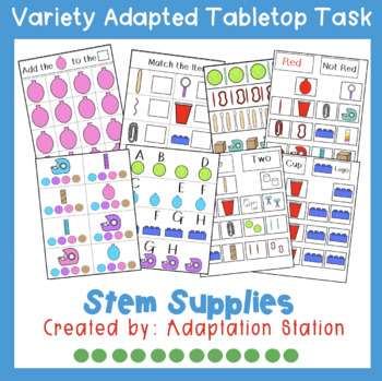 STEM Supplies Adapted Tabletop Tasks