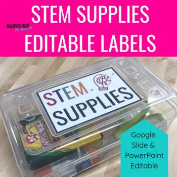 STEM Supplies Editable Labels