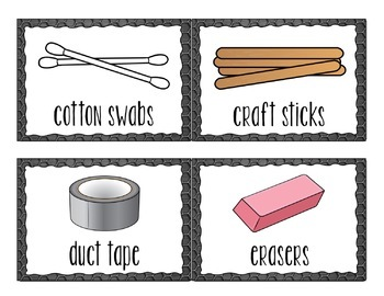 STEM Supplies Labels + Editable Template