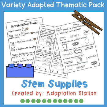 STEM Supplies Weekly Thematic Pack