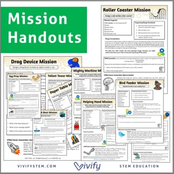 Starter STEM Challenges Pack (Take-Home/In-Class STEM Projects)