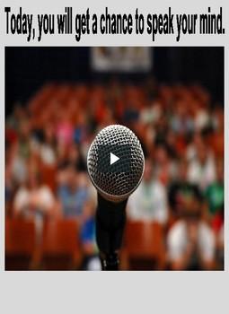 STEM Talks:  Extemporaneous Speech Activity