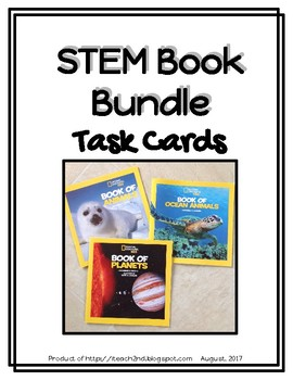 STEM Task Cards - Book Connection Bundle