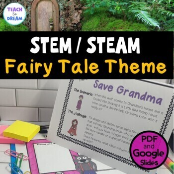 STEM Task Cards, STEAM Activities - Fairy Tale Fun: BUNDLE!