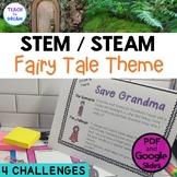 STEM Task Cards, STEAM Activities - Fairy Tale Fun! NO PRE