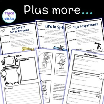 STEM Task Cards, STEAM Activities - Space Theme: BUNDLE!