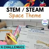 4 Space STEM Task Cards | STEAM Activities | NO PREP!
