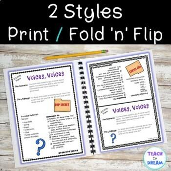 STEM Task Cards, STEAM Challenges - Detective Theme: BUNDLE! No Prep!