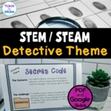 STEM Task Cards, STEAM Challenges - Detective Theme! No Prep!