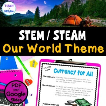 STEM Task Cards, STEAM Challenges - Our World Theme: BUNDLE! No Prep!