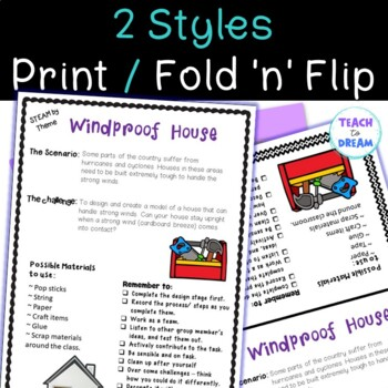 STEM Task Cards, STEAM Challenges - Weather Theme: BUNDLE! No Prep!