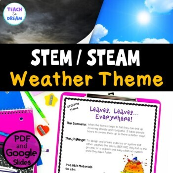 STEM Task Cards, STEAM Challenges - Weather Theme: BUNDLE!