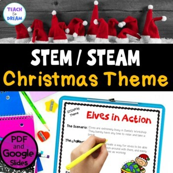 STEM Task Cards, STEAM Task Cards - Christmas Theme: BUNDLE!