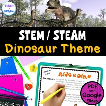 STEM Task Cards, STEAM Challenges - Dinosaur Theme: BUNDLE! No Prep!
