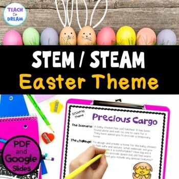 STEM Task Cards, STEAM Task Cards - Easter Theme! NO PREP!